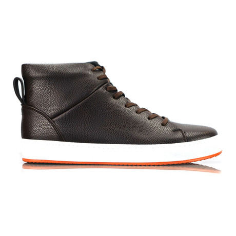 Livoe High Top Sneakers // Brown (Euro: 40)