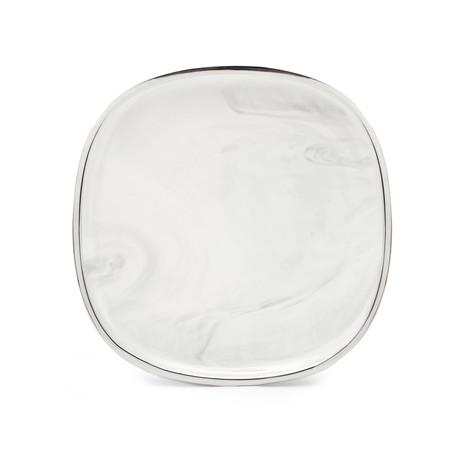 "10.6"" Large Dinner Plate (Marble + Platinum)"