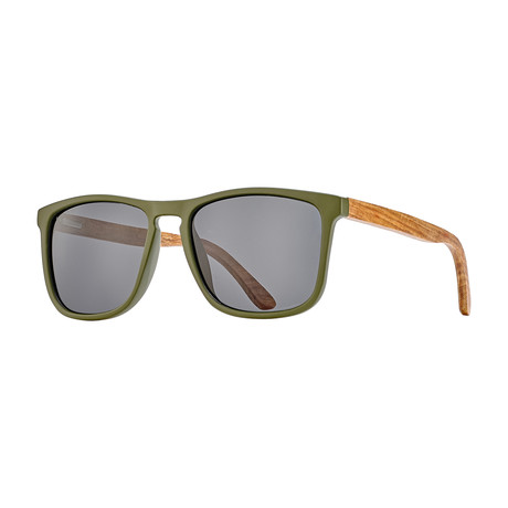 Cail // Matte Olive Green + Rosewood + Smoke Polarized Lens