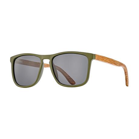Cail Polarized Sunglasses // Olive Green + Rosewood + Smoke
