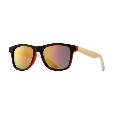 Anchor // Soft Black + Red + Natural Bamboo + Red Mirror Polarized