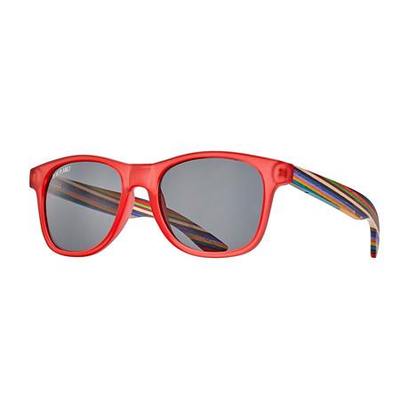 Indio // Frost Red + Rainbow Wood + Smoke Lens