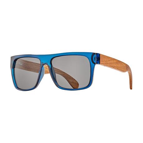 Keegan // Crystal Blue + Rosewood + Smoke Lens