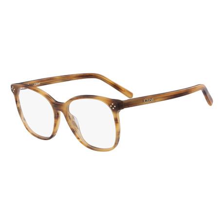 Chloe // CE2713 Eyeglass Frames // Striped Brown