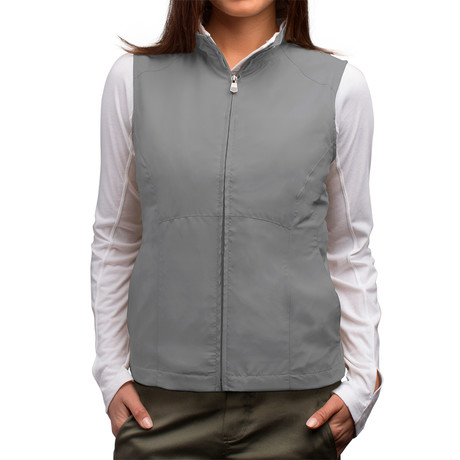 RFID-Blocking Travel Vest // Women // Grey (S)