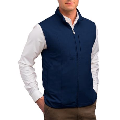 RFID-Blocking Travel Vest // Men // Navy (S)