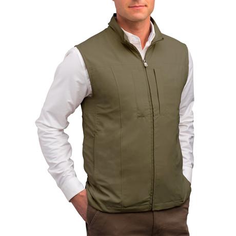 RFID-Blocking Travel Vest // Men // Olive (S)