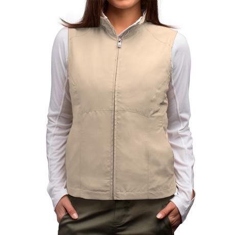 RFID-Blocking Travel Vest // Women // Khaki (S)
