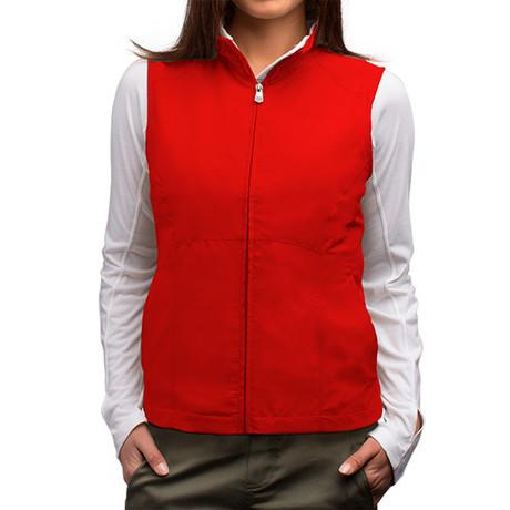 RFID-Blocking Travel Vest // Women // Red (S)
