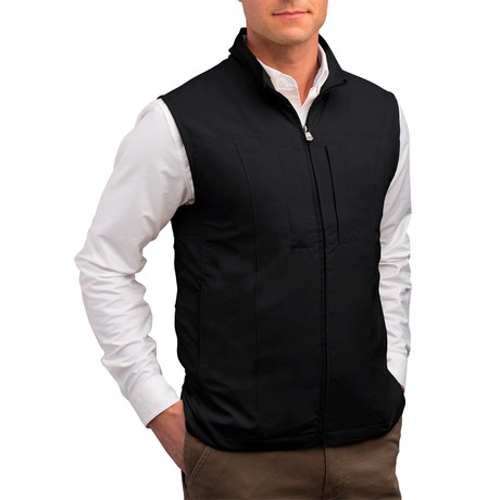 RFID-Blocking Travel Vest // Men // Black (S)
