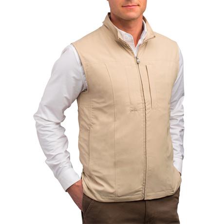 RFID-Blocking Travel Vest // Men // Khaki (S)