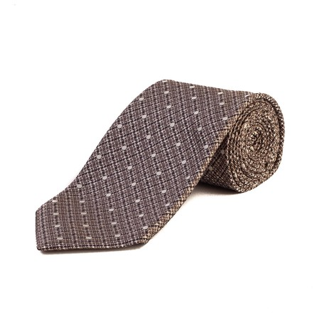 Tom Ford // Silk Woven Dot Tie // Brown