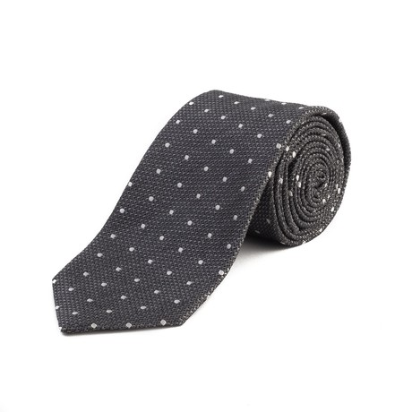 Tom Ford // Silk Woven Dot Tie // Gray