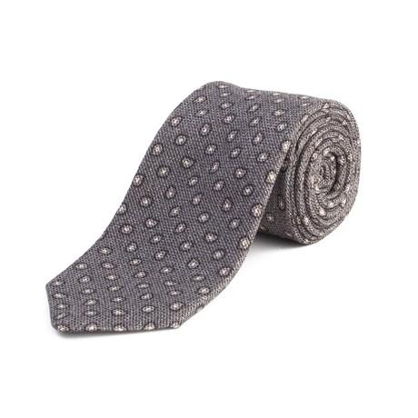 Ermenegildo Zegna // Silk Textured Paisley Tie // Gray