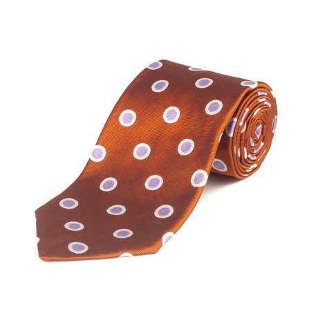 Silk Polka Dot Tie // Copper