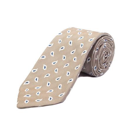 Ermenegildo Zegna // Silk Paisley Pattern Tie // Brown