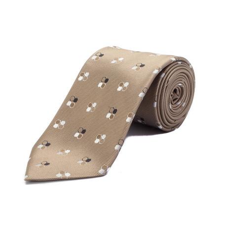 Ermenegildo Zegna // Silk Geometric Pattern Tie // Gold