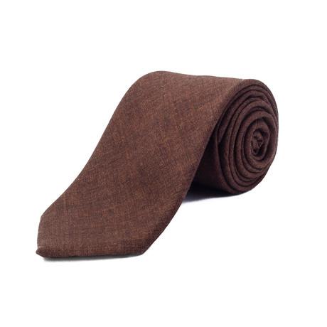 Ermenegildo Zegna // Wool Tie // Brown