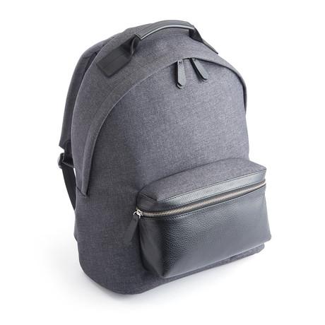 Mixed Media Urban Backpack // Black