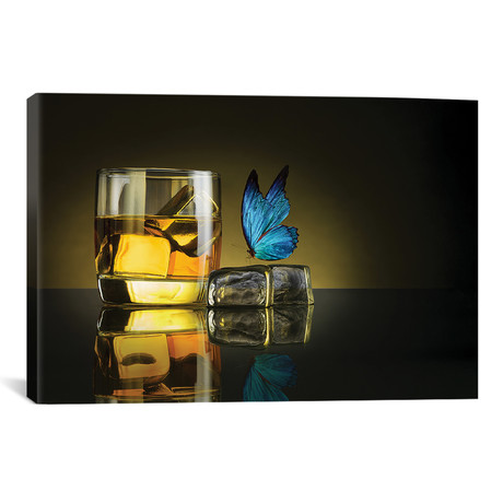 "Butterfly Drink // Jackson Carvalho (26""W x 18""H x 0.75""D)"