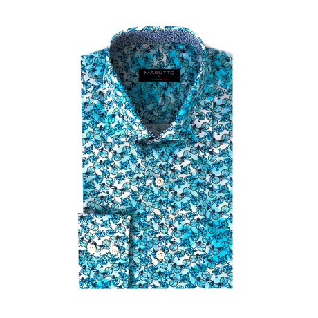 Anabelle Dress Shirt // Turquoise (XL)
