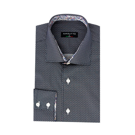 Attar Dress Shirt // Navy (XS)