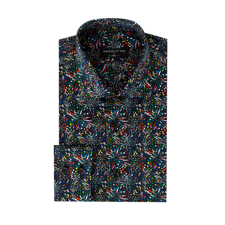 Dark Brando Dress Shirt // Multicolor (2XL)