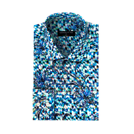 Gabriel Dress Shirt // Multicolor (XS)