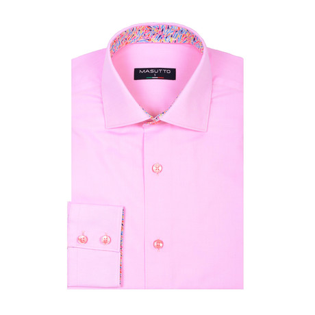 Martin Long Sleeve Shirt // Pink (XS)