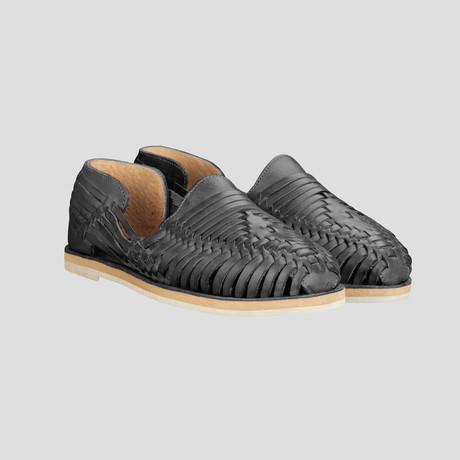 Women's Moon Huarache Shoe // Black + Black Insole (US Size 9)