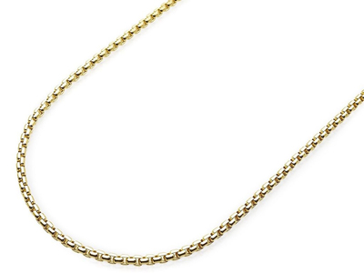 "Photo of Best Silver 10K Gold Chains Round Box Chain // 26"" (1.8 mm) by Touch Of Modern"