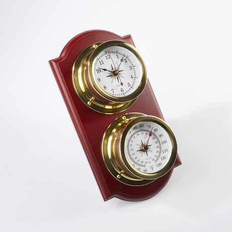 Euro Nautical Weather Station // Clock-Thermo