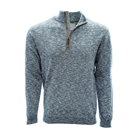 Marina 1/4 Zip Sweater // Heather Navy (S)