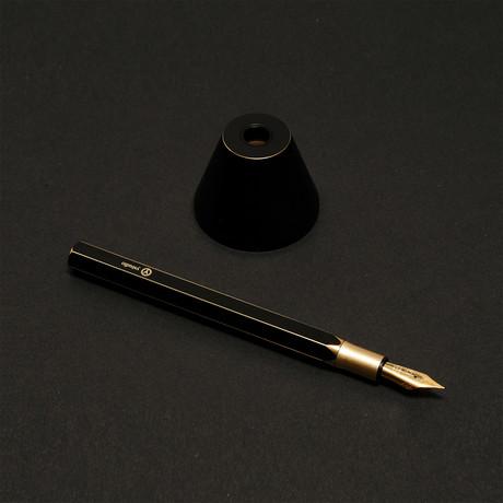 Brassing Desk Fountain Pen // M Nib