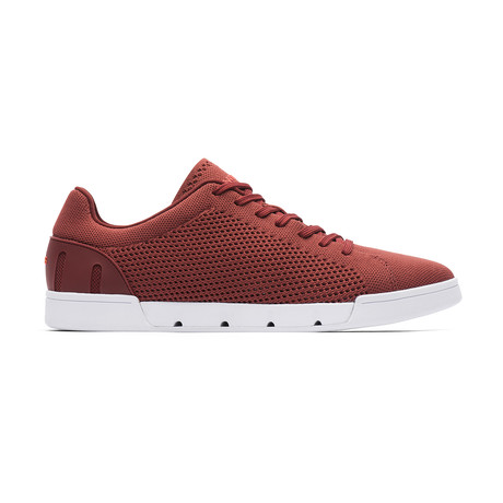 Breeze Tennis Knit // Red Lacquer + White (US: 7)