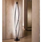 Twist LED Floor Lamp (Silver)