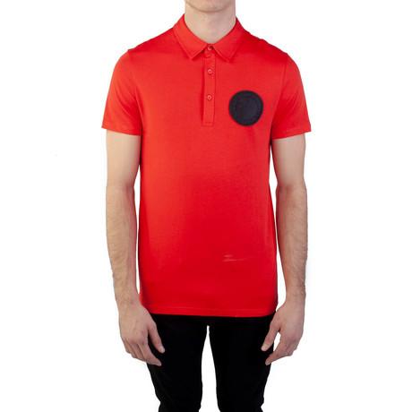 Pima Cotton Circular Medusa Polo Shirt // Red (Small)