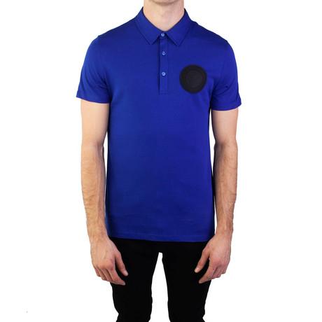 Pima Cotton Circular Medusa Polo Shirt // Royal Blue (Small)