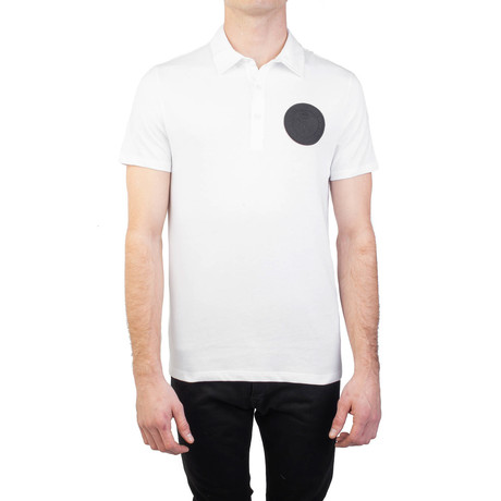 Pima Cotton Circular Medusa Polo Shirt // White (S)