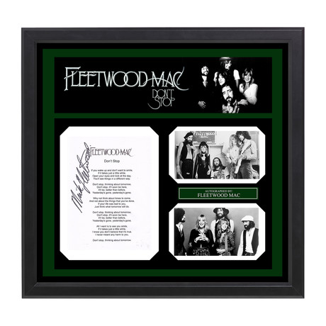 Signed + Framed Lyric Collage // Fleetwood Mac