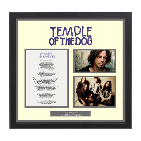 Signed + Framed Lyric Collage // Temple of the Dog