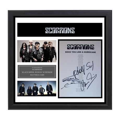 Signed + Framed Lyric Collage // Scorpions