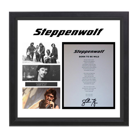 Signed + Framed Lyric Collage // Stepphenwolf