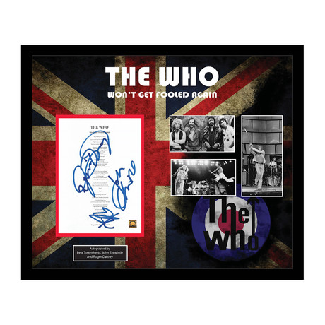 Signed + Framed Lyric Collage // The Who