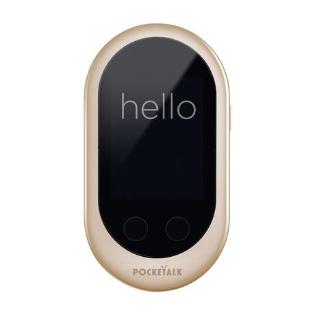 POCKETALK™ Voice Translator + Carry Case // Gold