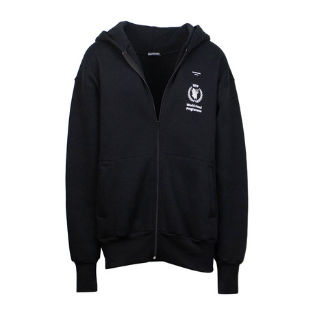 Women's World Food Programme Zip Up Sweatshirt // Black (XS)