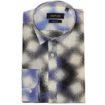 Onega Shirt // White + Blue (XS)