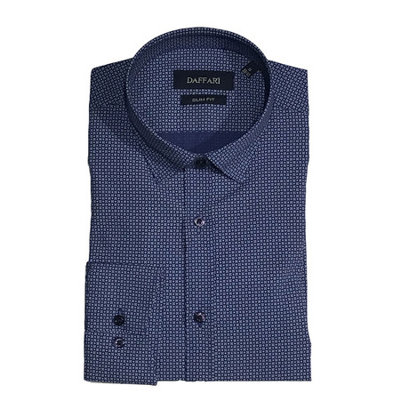 Heta Shirt // Navy Blue + Gray (XS)