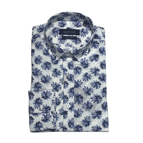 Kavarna Shirt // White + Blue (XS)