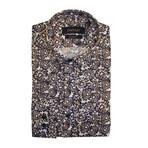 Patos Shirt // Brown + Navy Blue (XS)